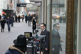 Person of Interest (TV series) - Michael Emerson filming Person of Interest in New York