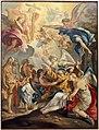 Michele ricciardi, lapidazione di santo stefano, 1700-50 ca., da s. michele a sant'angelo le fratte.jpg