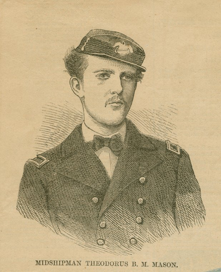 Midshipman Theodorus B. M. Mason of the United States Navy (c. 1868) Midshipman Theodorus B M Mason.png