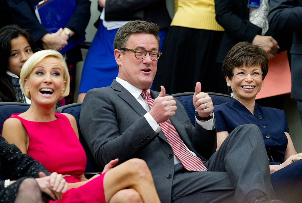 Mika Brzezinski, Joe Scarborough, and Valerie Jarrett at White House Forum on Women and the Economy