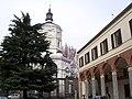 Milano - Tempio della Vittoria visto dal Cortile della Canonica di S. Ambrogio - panoramio.jpg