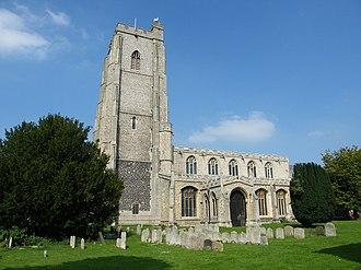 St Mary's Church, Mildenhall - Image: Mildenhall Church of St Mary