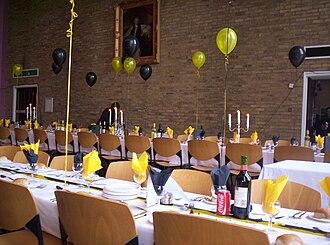 Van Mildert College, Durham - High Table at the Mildert Day Formal Meal in 2008