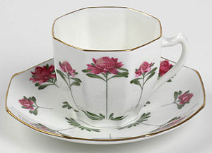 Miles Franklin - Miles Franklin's waratah cup and saucer 1904. This cup is part of the collection of the State Library of NSW