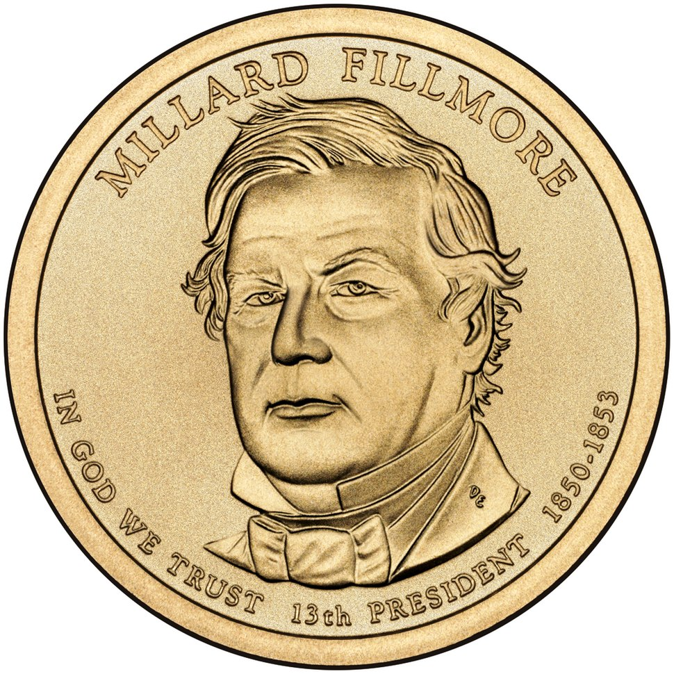 Millard Fillmore $1 Presidential Coin obverse sketch