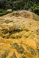 Mineral deposits from Pancuran Tujuh, near Baturraden, Purwokerto 2015-03-23.jpg