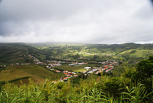 Flamengos - The valley of Flamengos, in the foothills of the central caldera, as seen from Monte Carneiro