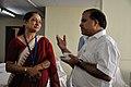 Mita Chakrabarty and Anil Shrikrishna Manekar - Tea Break Discussion - Collections and Storage Management Workshop - NCSM - Kolkata 2016-02-18 9691.JPG