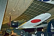 Mitsubishi Reisen (Zero-Fighter) A6M7 Model 63 ZEKE - San Diego Air & Space Museum (9659912997).jpg