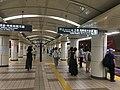 Mitsukoshimae Station - platforms and platform doors - July 26 2020.jpeg