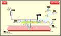 Mizuho Undojo Nishi station map Nagoya subway's Sakura-dori line 2014.png