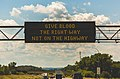 MnDOT Digital Billboard - Road Safety Message - Give Blood the Right Way, Not on the Highway (37269665235).jpg