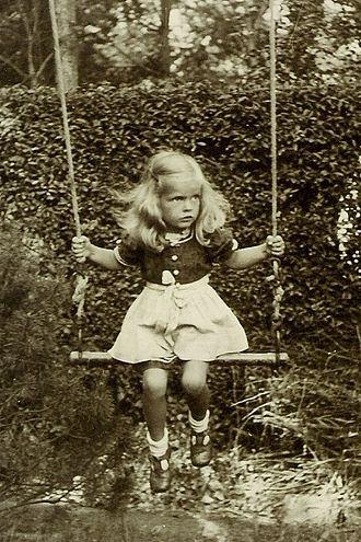 Swing (seat) - Girl on swing, Germany, 1941