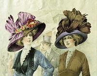 Mode. Hattar. Modeplansch från 1911 - Nordiska Museet - NMA.0033994.jpg