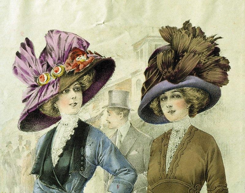 Mode. Hattar. Modeplansch från 1911 - Nordiska Museet - NMA.0033994