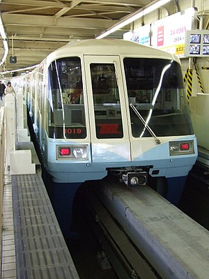 Hitachi Monorail - Image: Model 1000 of Tokyo Monorail