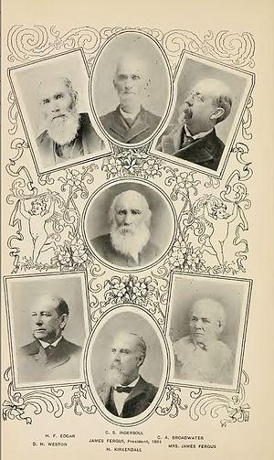 Society of Montana Pioneers - Image: Montana Pioneer Society Leadership 1884