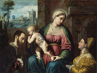Virgin and Child, with Two Donors