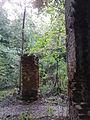 Morysin - zespół pałacowo-parkowy - domek stróża - widok w kierunku ruin bramy.jpg