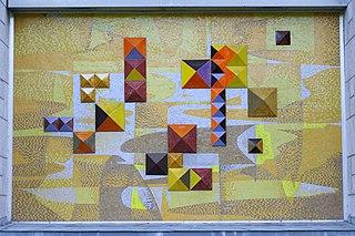 Mosaïque murale du pavillon des sciences appliquées