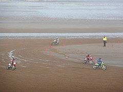 Motorcycle racing on the beach, Mablethorpe - geograph.org.uk - 1187046.jpg