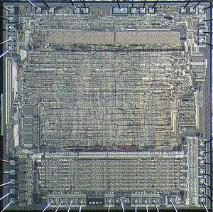 Motorola 6809 - Die of Motorola 6809.