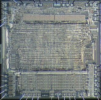 Motorola 6809 - Die of Motorola 6809