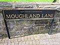 Moughland Lane sign, Higher Runcorn.JPG