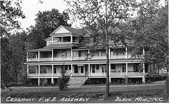 University of Mount Olive - Cragmont Assembly, Black Mountain, North Carolina, location of the college's campus from 1952-53.