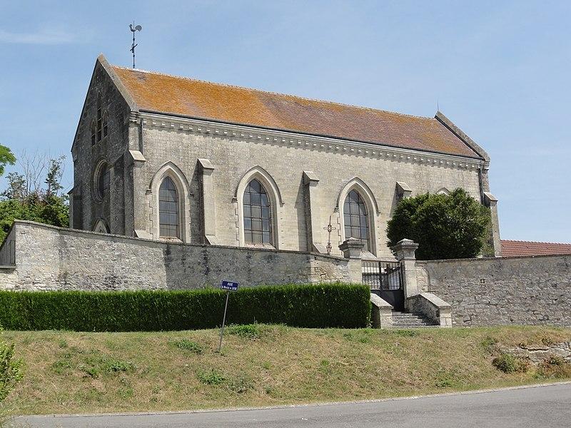Moussy-Verneuil (Aisne) église de Moussy