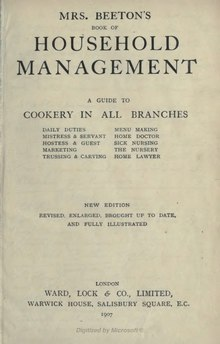 Mrs Beeton's Book of Household Management.djvu
