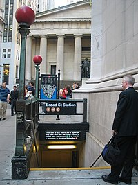 Entrance to Broad Street station