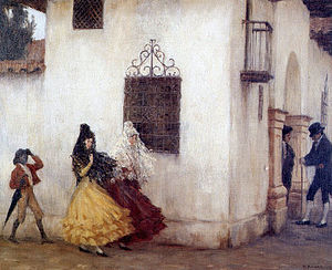 Mujeres de la Colonia de Pedro Subercaseaux . Obra que muestra la vida