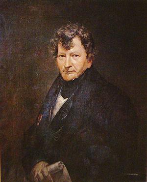 Auguste-Henri-Victor Grandjean de Montigny - Portrait of Grandjean de Montigny by Augusto Muller (1815 - circa 1883