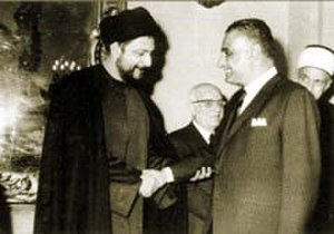 Musa al-Sadr - Musa Sadr with Gamal Abdel Nasser in the 1960s