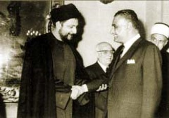 Musa al-Sadr - Musa Sadr with Gamal Abdel Nasser in the 1960s