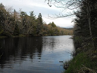 Musquodoboit River - View of the lower reaches of the Musquodoboit River