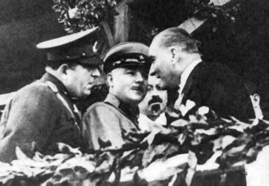 Mustafa Kemal and Voroshilov on 29 October 1933