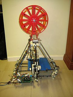 My Prusa Mendel RepRap (with RepRapped Filament Spool)