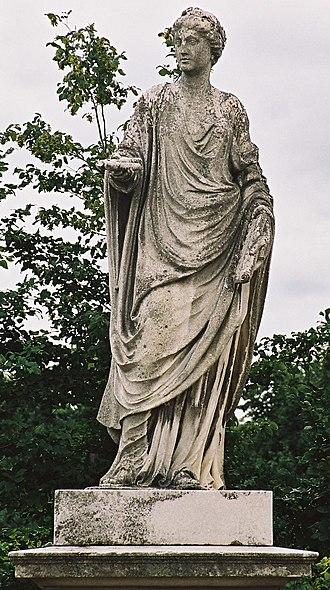 Sculptures in the Schönbrunn Garden - Image: N02Kalliope