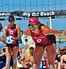 NCAA beach volleyball at Fiesta on Siesta, April 2016 (25753506784).jpg