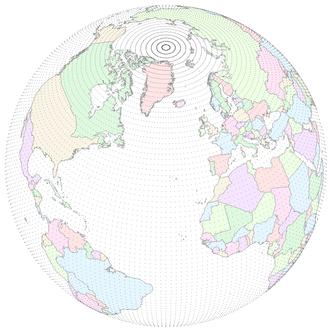 Gaussian grid - Image: NCEP T62 gaussian grid