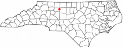 Location of Kernersville, North Carolina