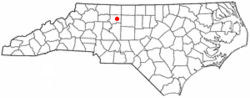 Location of Walkertown, North Carolina
