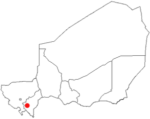 Birni N'Gaouré - Location of Birni N'Gaouré, Map of Regions of Niger in Niger