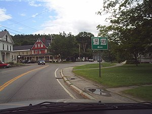 New Hampshire Route 12 - Route 12A and Route 123 concurrency
