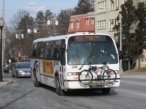 NJ Transit Nova RTS bus 1206 operates through Woodbury on route 455 NJ Transit Nova RTS 1206.jpg