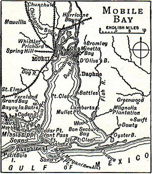 George Warren Wood -  The Fairhope colony was established in 1894 between Battles and Dauphne on the Eastern Shore of Mobile Bay. Wood Jr. arrived in the late 1890s and spent over 20 years there. (Map from 1914)