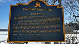 Cazenovia Lake - NYS Historic Marker at Cazenovia Lake