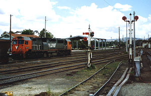 Seymour railway station - N474 at Seymour in 1989